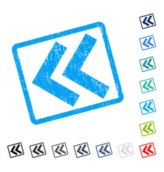 Shift left icon rubber watermark vector
