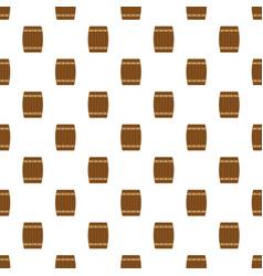 side of wood barrel pattern seamless vector image