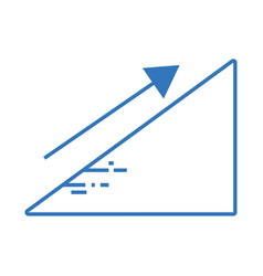silhouette financial triangle with arrow up to vector image