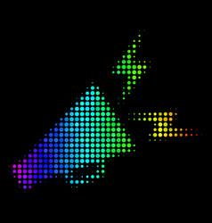 spectral colored dot alert megaphone icon vector image