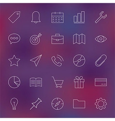 Universal Web and Mobile User Interface Line Icons vector image