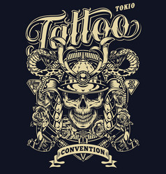 vintage tattoo convention in tokio template vector image