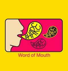 Word mouth logo vector