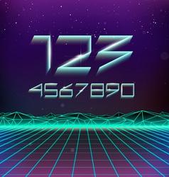 80s Retro Futurism Geometric Numbers vector image vector image