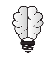 brain storm with bulb vector image