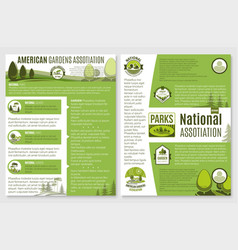 brochure for landscape or gardening company vector image