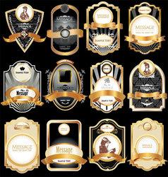 gold framed labels vector image vector image