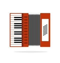 Real Accordion flat icon isolated on background vector image vector image
