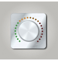 Square volume knob vector image vector image