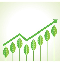 agriculture business growth graph concept vector image