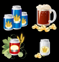 beer objects vector image