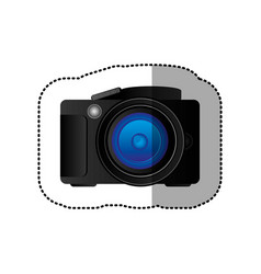 black technology professional camera icon vector image vector image
