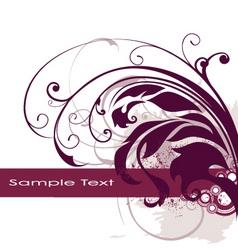 floral edge frame design vector image vector image