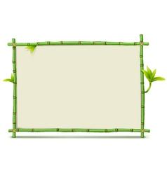 Green Bamboo Frame vector image vector image
