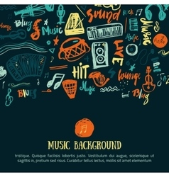 Music festival background Can be used for vector image vector image