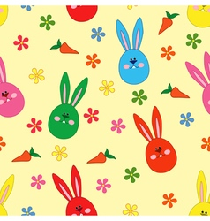 Seamless pattern with Easter motif vector image