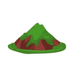 Volcano isolated vector image