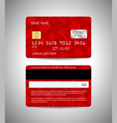 credit cards set christmas and new year design vector image