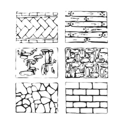 Hand drawn paving stones and blocks vector image vector image