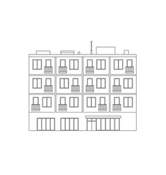 apartment house line drawing vector image