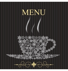 The concept of Restaurant menu on winter vector image vector image