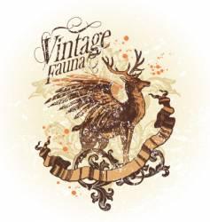 vintage fauna vector image vector image