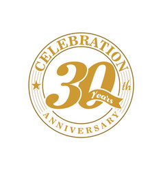 30 th golden anniversary vector