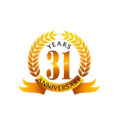 31 years ribbon anniversary vector