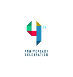 4 th anniversary celebration template design vector