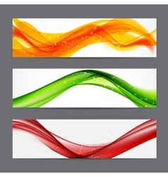 Abstract Colored Wave Header Background vector image