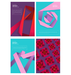 abstract magazine covers modern colored shapes vector image