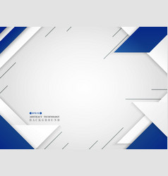 abstract of futuristic blue and white geometric vector image