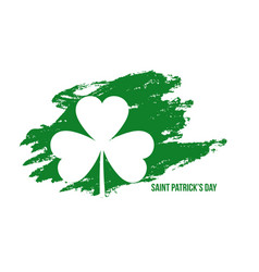 abstract st patricks day grunge style background vector image