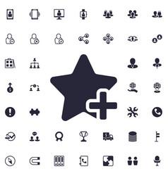 Add favorite icon vector