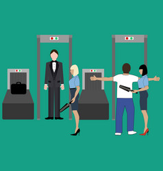 Airport security control vector