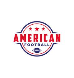 american football sport logo with gridiron ball vector image