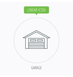 Auto garage icon Transport parking sign vector image
