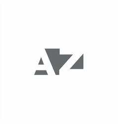 Az logo monogram with negative space style design vector