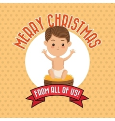 Baby jesus icon Merry Christmas design vector image