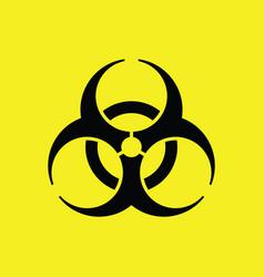 Biohazard symbol biological warning vector