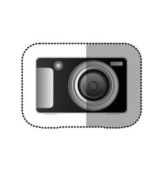 black technologic digital camera icon vector image