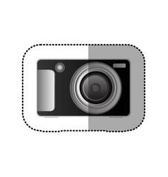 Black technologic digital camera icon vector