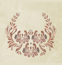 Brown floral patter vector