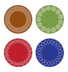 colorful moroccan frames set vector image