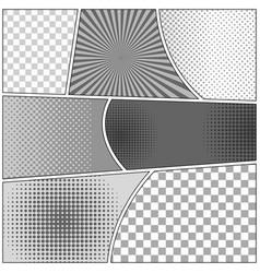 Comic monochrome templates set vector