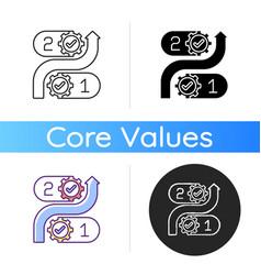 Consistency icon vector