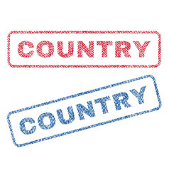 Country textile stamps vector