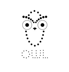 decorative owl design template vector image