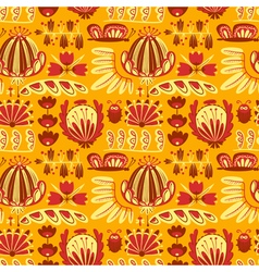 Decorative seamless background with flowers vector
