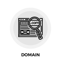 Domain Line Icon vector image